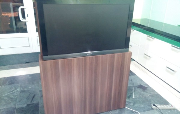 Motorized TV cabinet